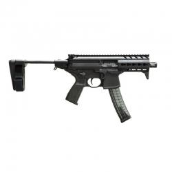 "Sig Sauer MPX 4.5"" 9mm pistol with brace"