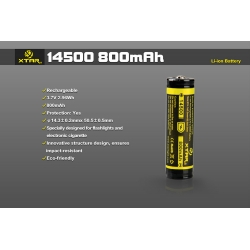 XTAR 14500 Rechargeable Battery