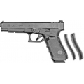 Glock 35 40S&W Gen 4 Additional Backstraps