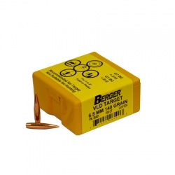 Berger Target Bullets, 6.5mm (264 Diameter) 140 Grain VLD Hollow Point Boat Tail
