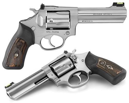 Ruger SP101  357 Mag, Black Rubber/Wood Grips 4