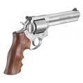 """Ruger GP100 6"""" Unfluted, Hogue Wood Grips"""