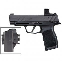 Sig Sauer P365 9mm Thumb Safety with Romeo 0 and Holster