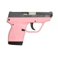 Taurus 738 TCP Pink Frame Black Slide 6+1